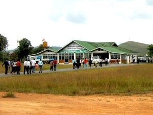 The Xiang Kuang Airport outside of Phonesavan, Laos