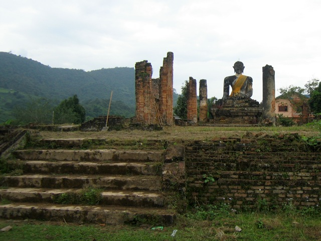 Wat Phiawat, destroyed by the US, in Muang Khun, Laos