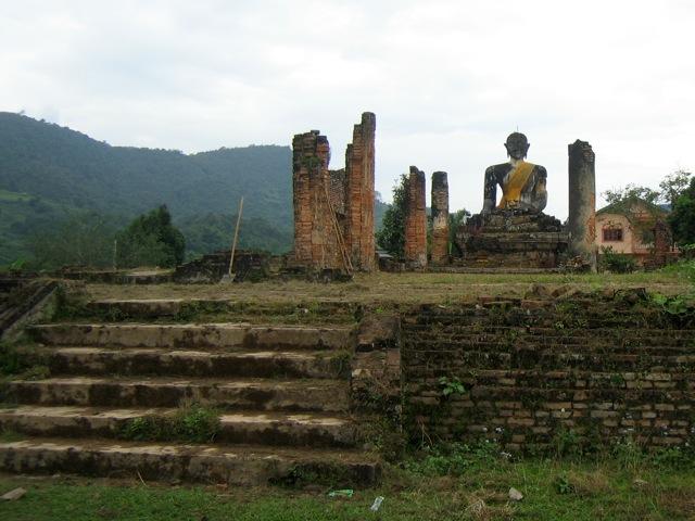 Wat Phiawat, destroyed by the US, in Muang Khun, Laos